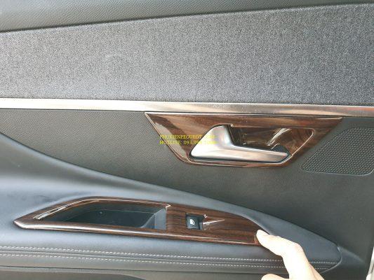 Bộ ốp vân gỗ nội thất xe Peugeot